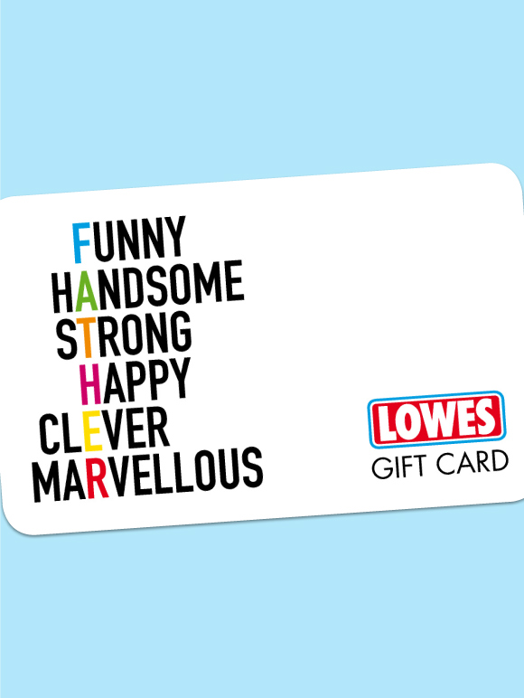 Lowes Menswear Multi Colour Gift Card Voucher $50 to $500